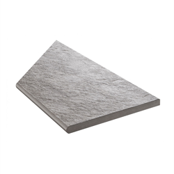 Klinker Bricmate Z Quartzit Grey Pool Inner Corner Right 30x60 cm