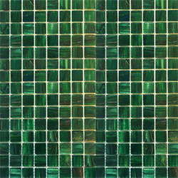Mosaik golden dark green 2x2cm