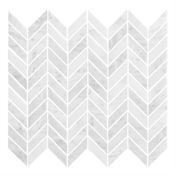 Marmor Bricmate U Chevron Carrara Polished