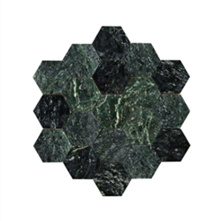 Hexagon Large Green Marble Polished 100x100 (mm) Bricmate