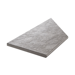 Klinker Bricmate Z Quartzit Grey Pool Inner Corner Left 30x60 cm