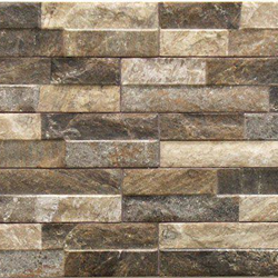 Fasadsten Stone brick brown 8x44,2cm