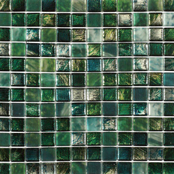 Mosaik glas green mix 2,3x2,3cm