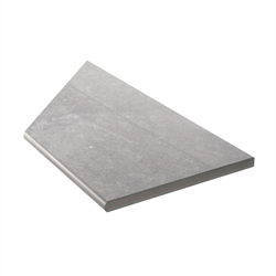 Klinker Bricmate Z Limestone Grey Pool Inner Corner Right 30x60 cm