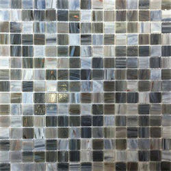 Mosaik golden grey mix 2x2cm