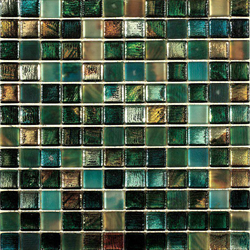 Mosaik glas blue / green mix 2,3x2,3cm